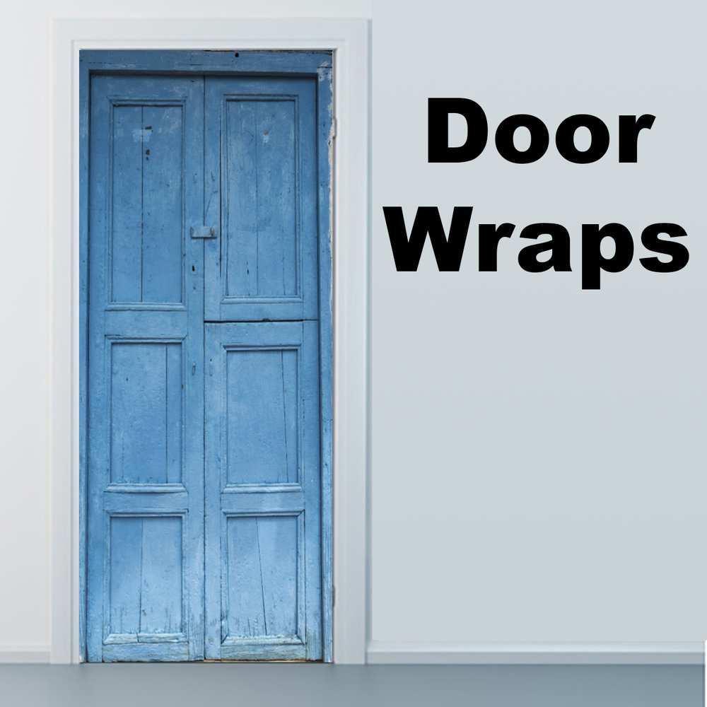 Attractive Blue Door Barichara, Colombia Door Wrap