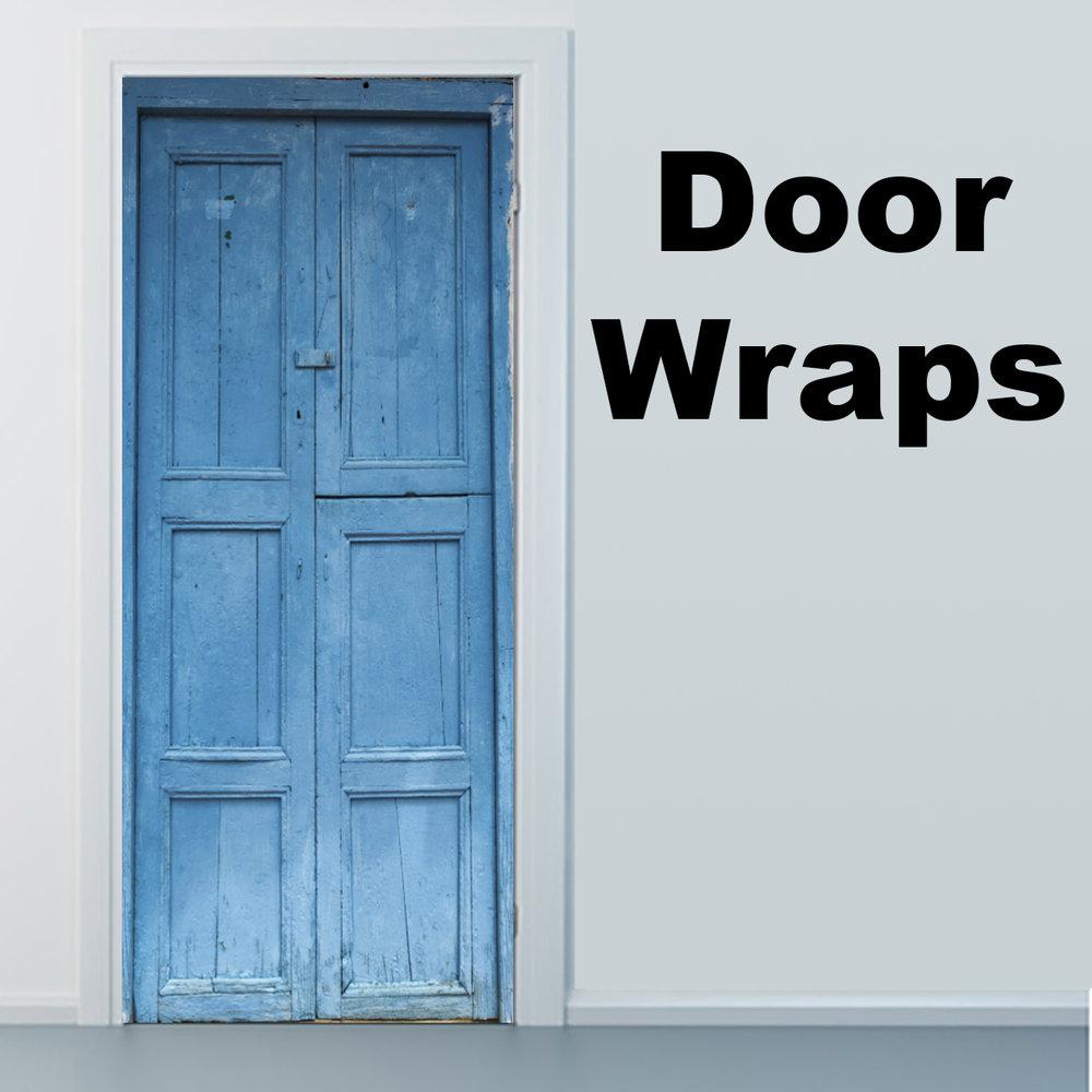 Blue Door Barichara Colombia Door wrap