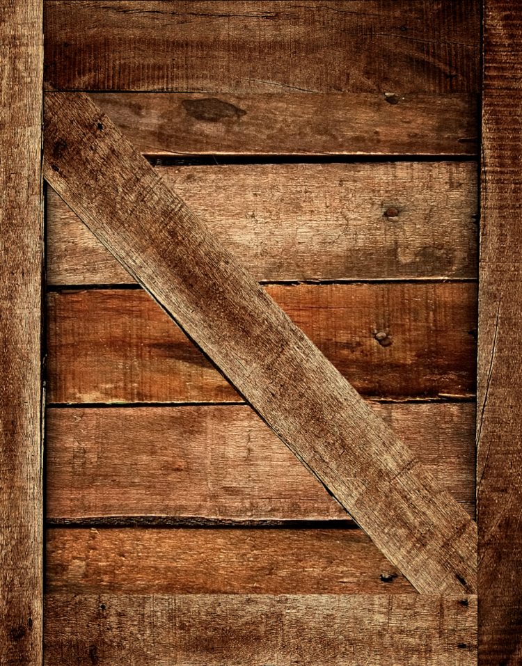 Weathered Wood Crate Refrigerator Skin