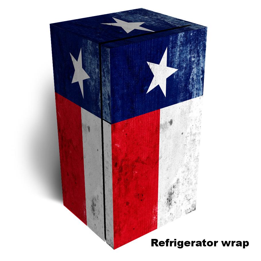 Grunge Texas State Flag Refrigerator Skin