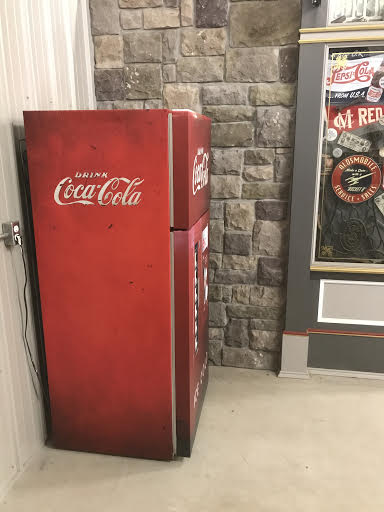 old vending machine fridge skin