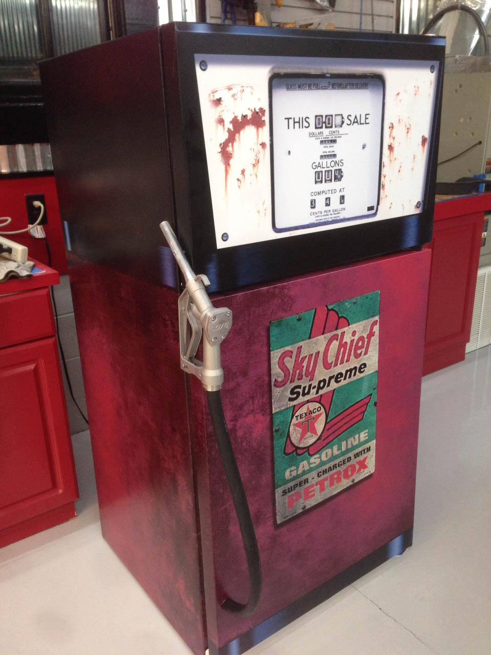 Gas pump Vintage refrigerator wrap stciker