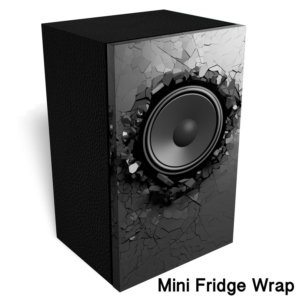 BOOM Box Loudspeaker Mini Fridge Wrap