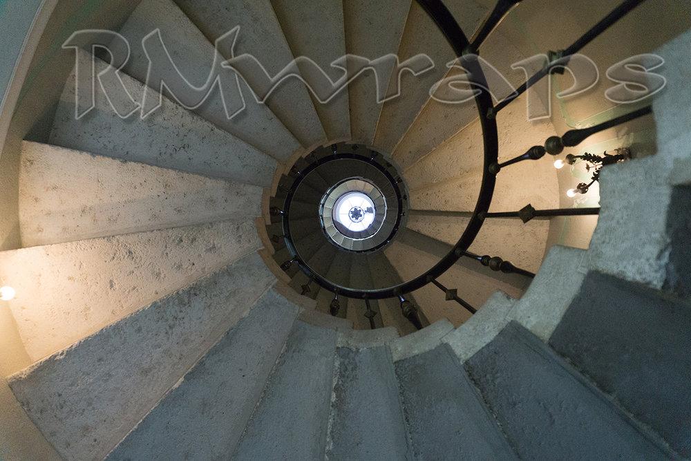 Spiral staircase Vizcaya Museum & Gardens