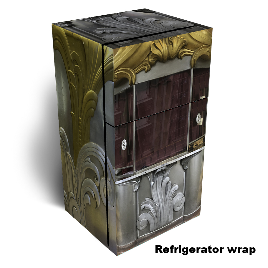 Theater Ticket Booth Refrigerator Skin