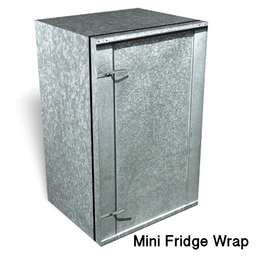 Galvanized steel Mini fridge skin