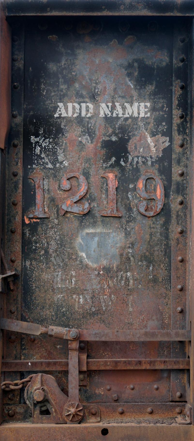 Train Car Number 1219 Door Wrap ad name.png