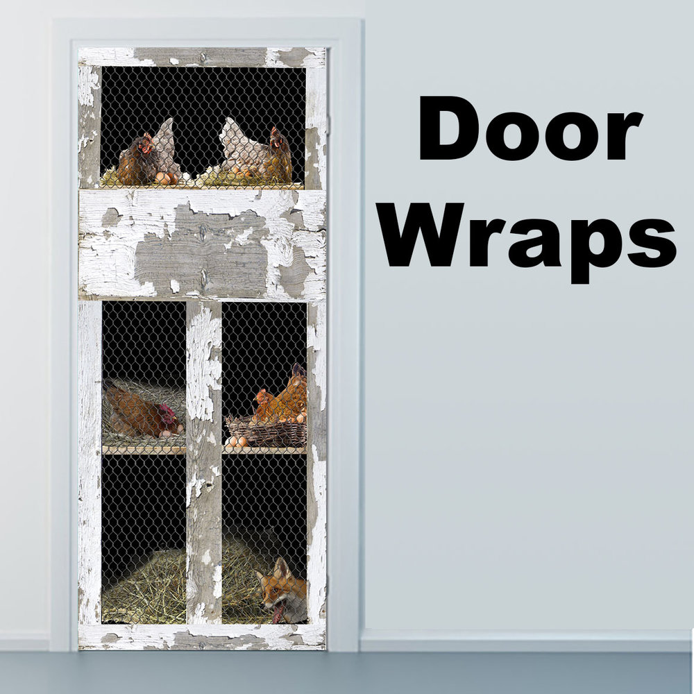 Chicken Coop Door Wrap