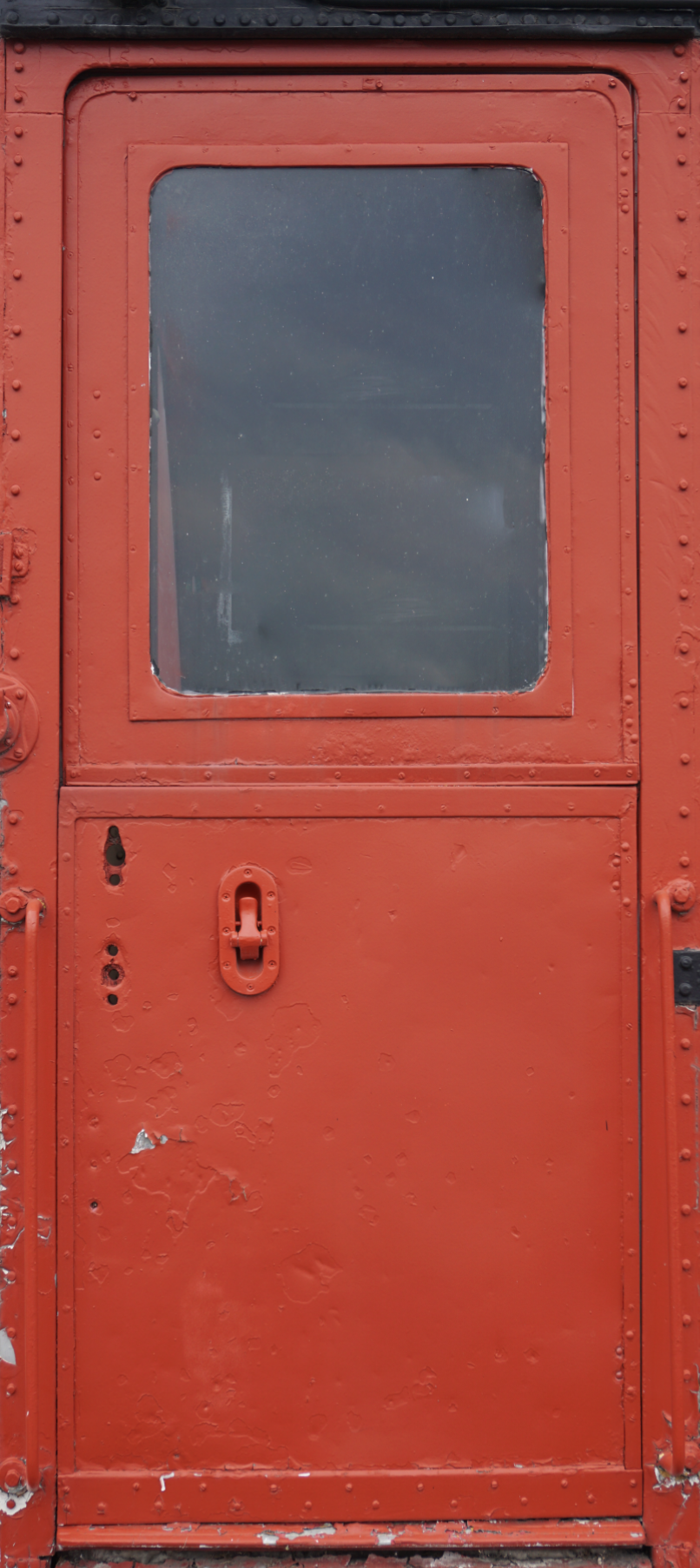 Red Train Car Door Wrap
