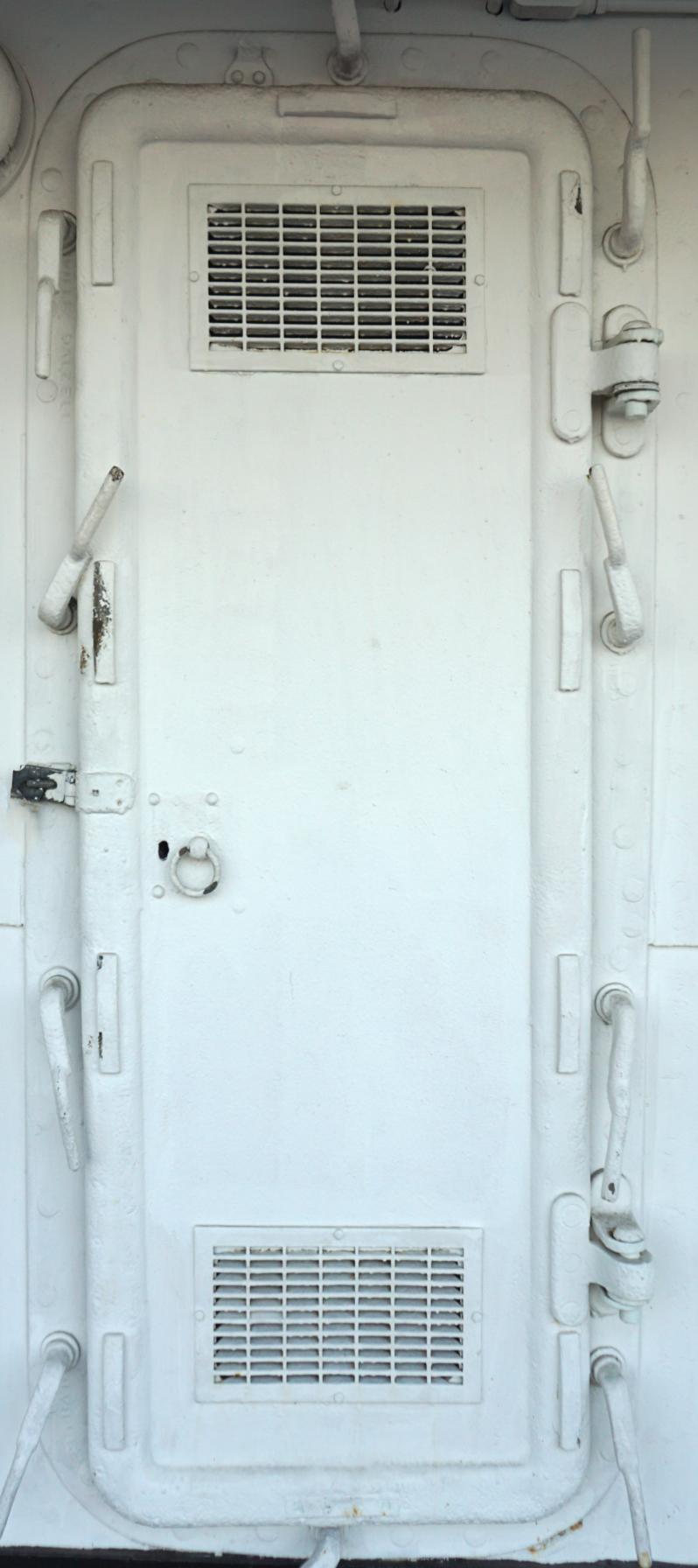 Old Ship Metal Door Vents Wrap