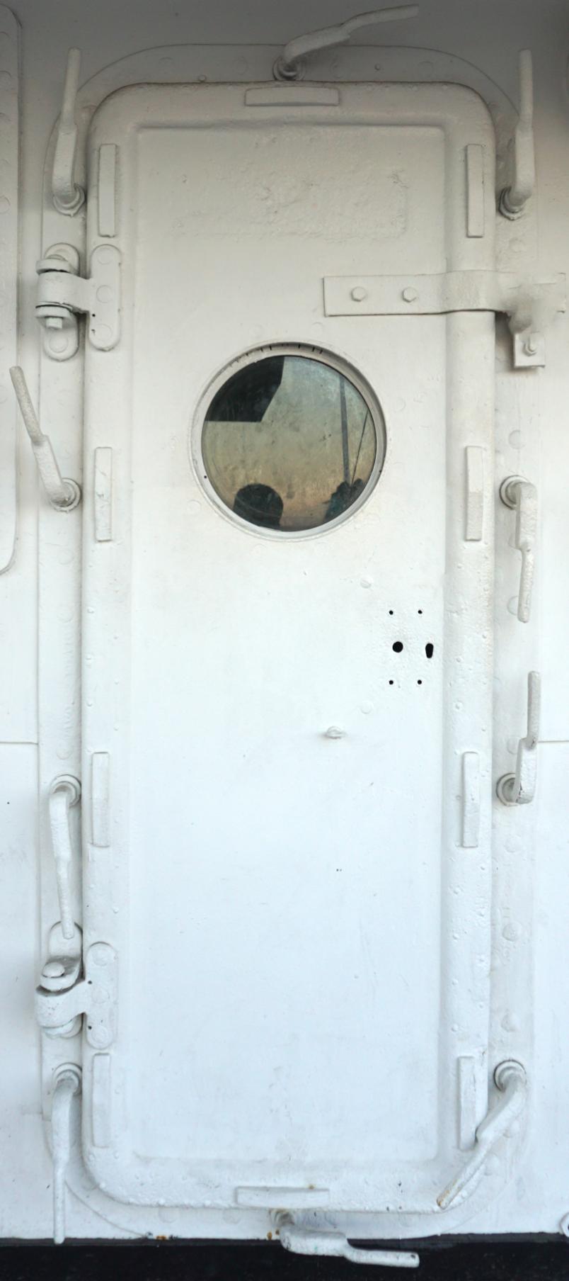 Old Ship Metal Door Wrap