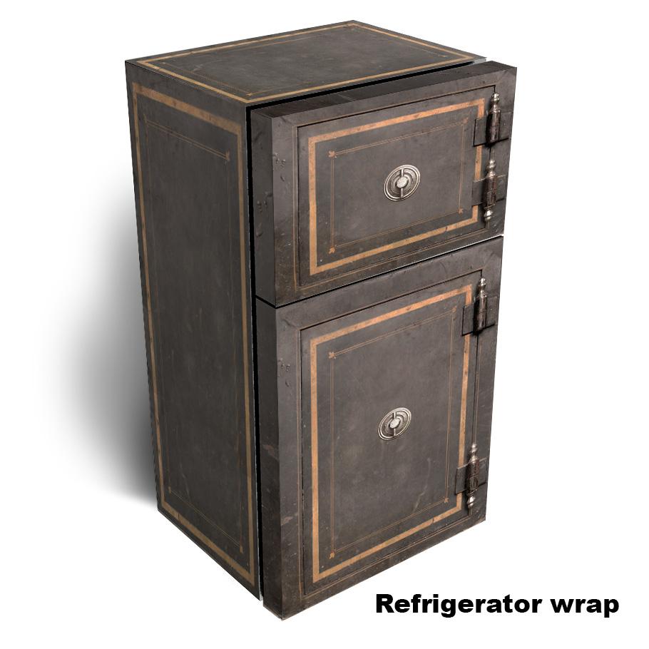 Vintage Safe Refrigerator Skin