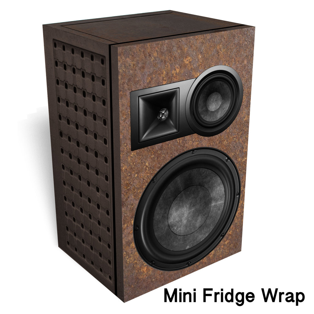 Heavy Metal Speaker Mini Fridge Wrap