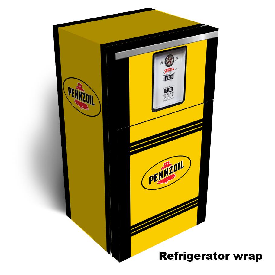 Pennzoil Gas Pump Refrigerator Skin
