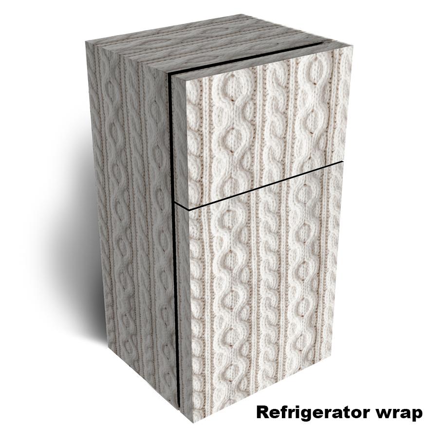 White Knit Fabric Refrigerator Skin