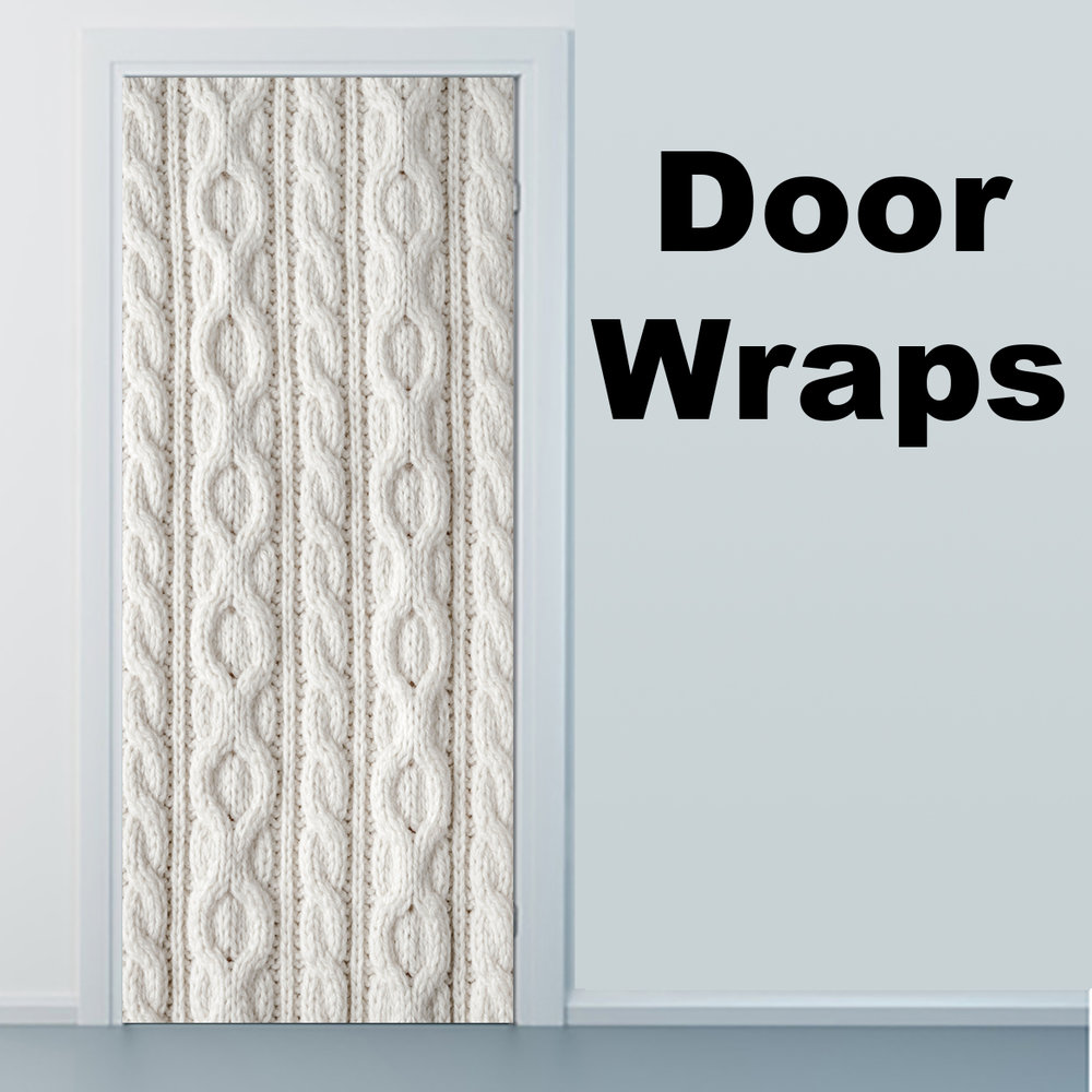 White Knit Fabric Door wrap