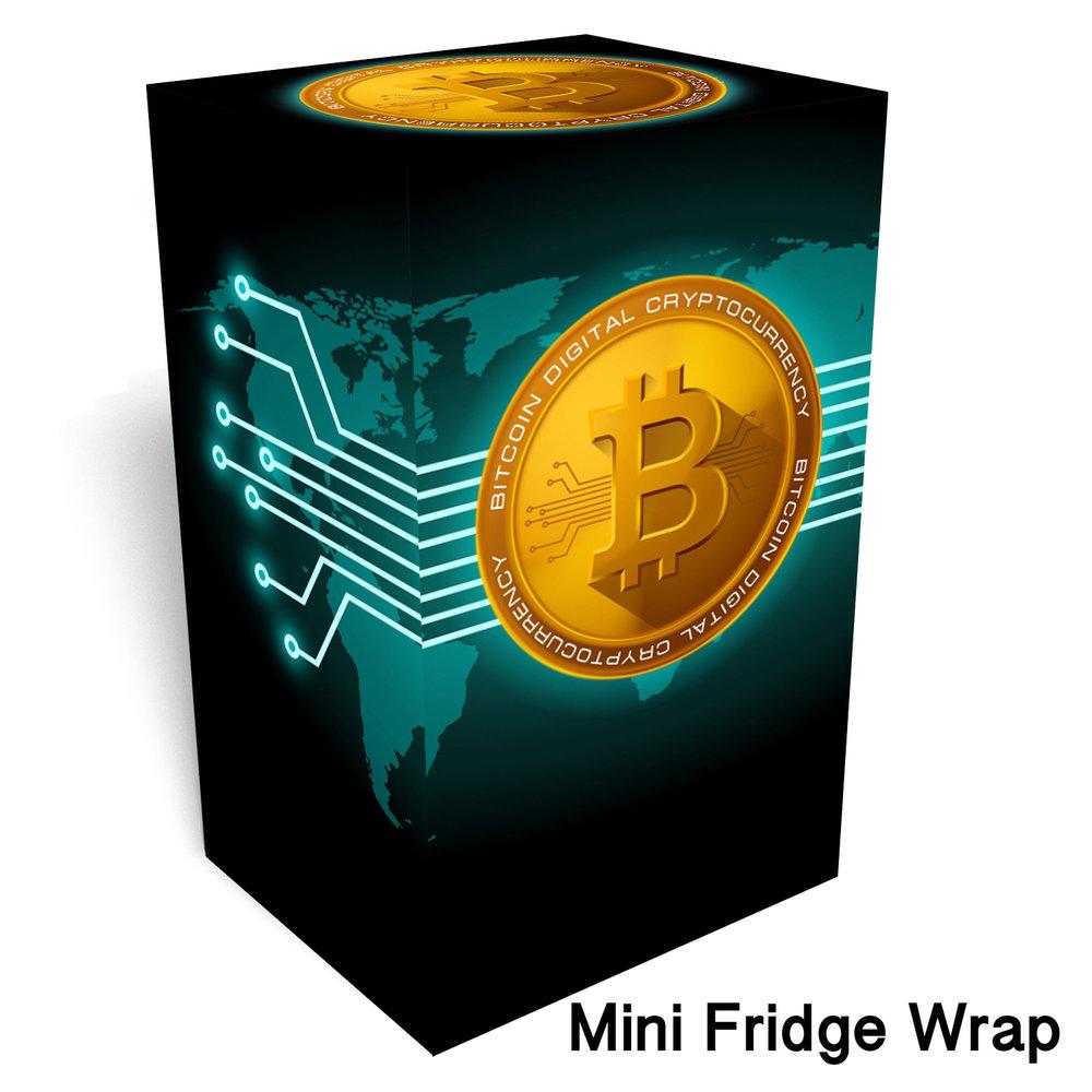 Bitcoin Mini Fridge Wrap