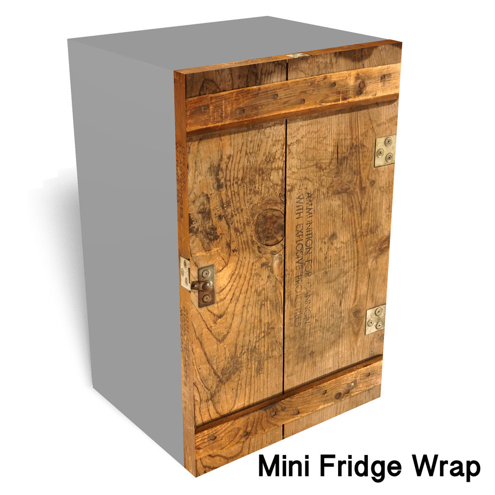 Ammunition Box Mini Fridge Wrap