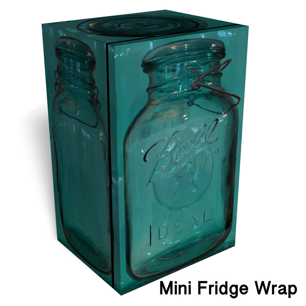 Ball Vintage Mason Jar Mini Fridge Wrap