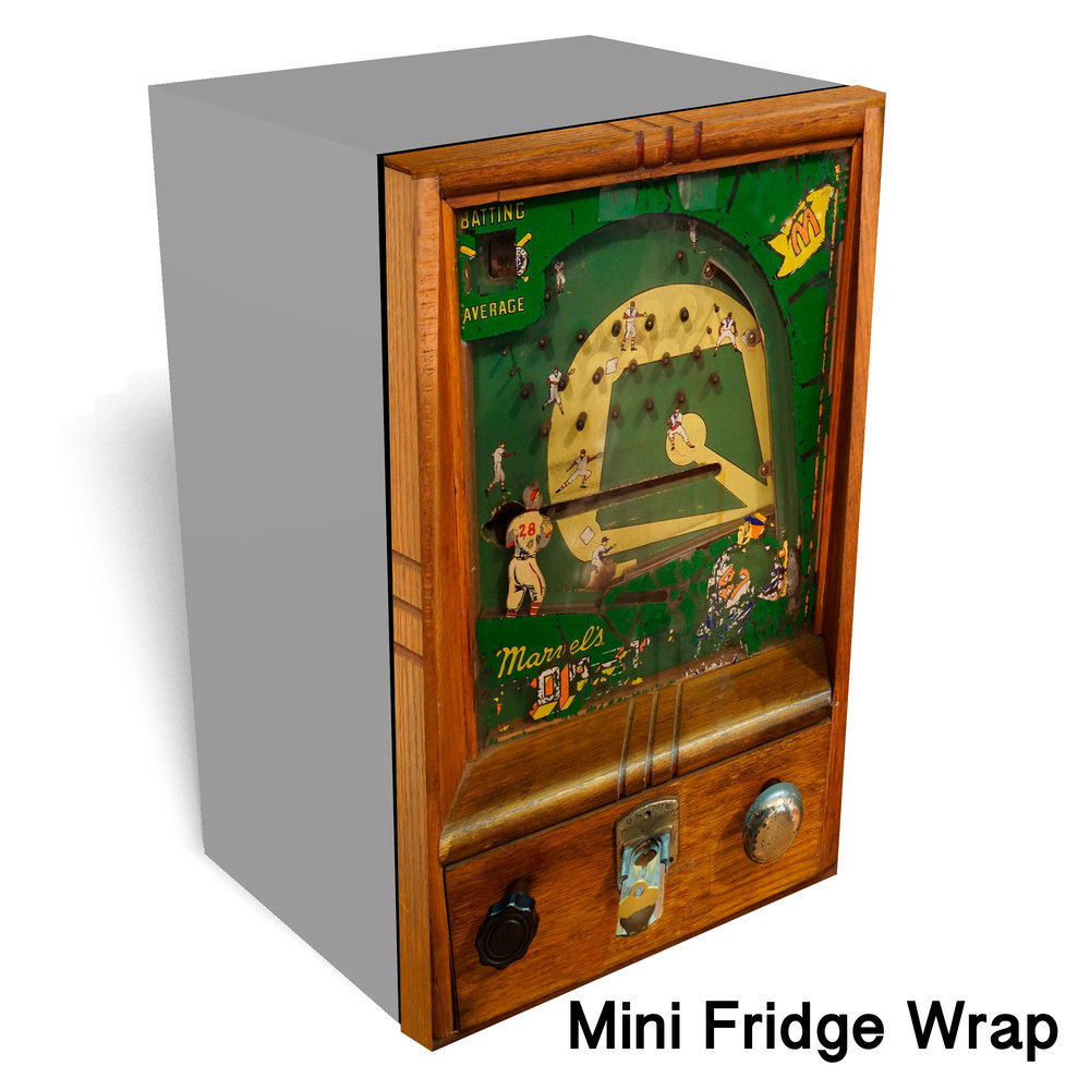 Baseball Vintage Game Mini Fridge Wrap
