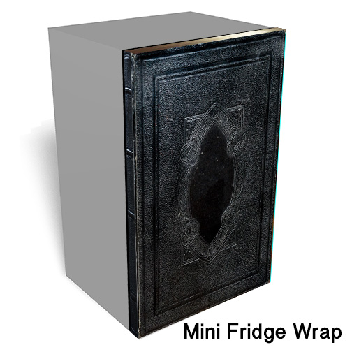 Black Book Mini Fridge Wrap