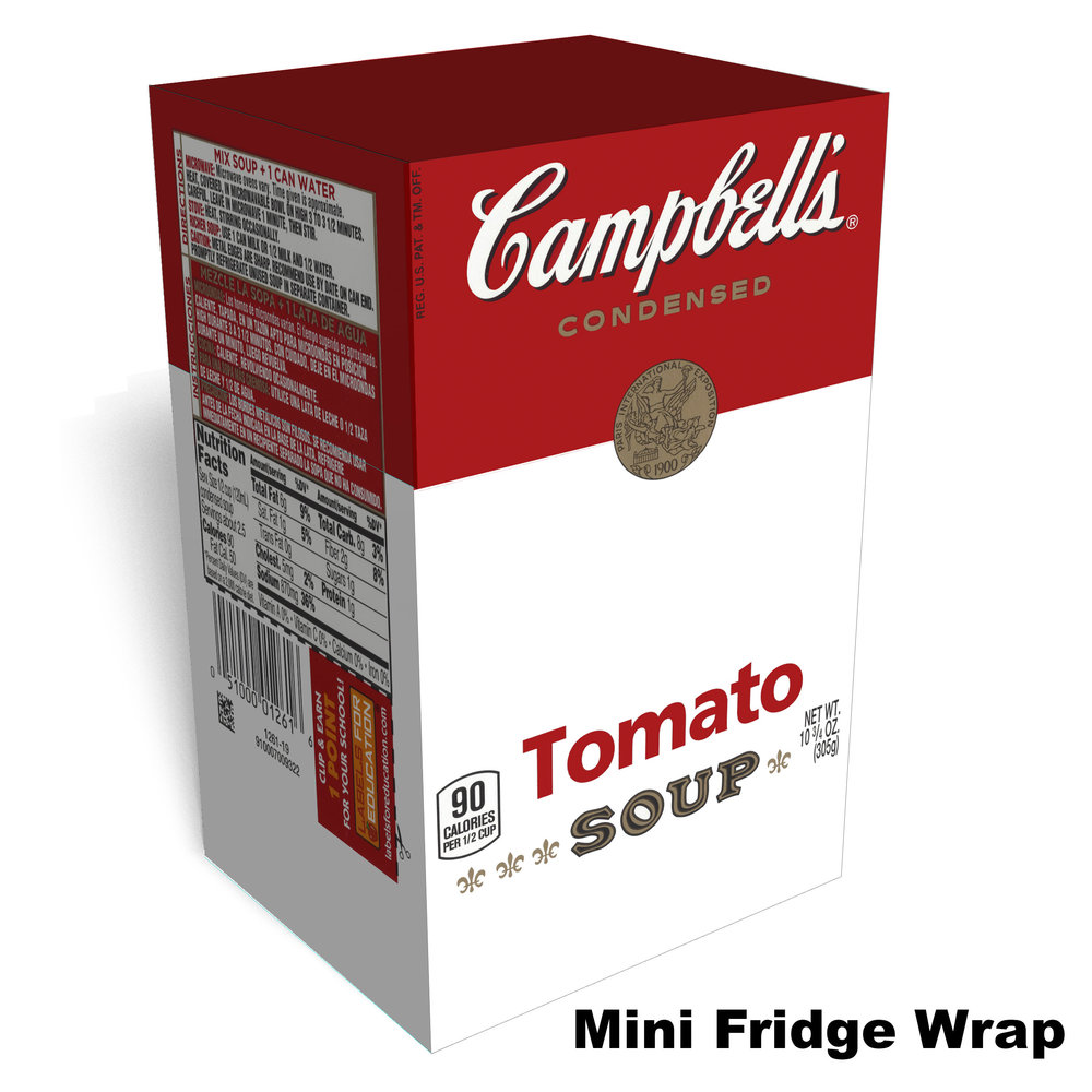 Campbells Tomato Soap Mini Fridge Skin