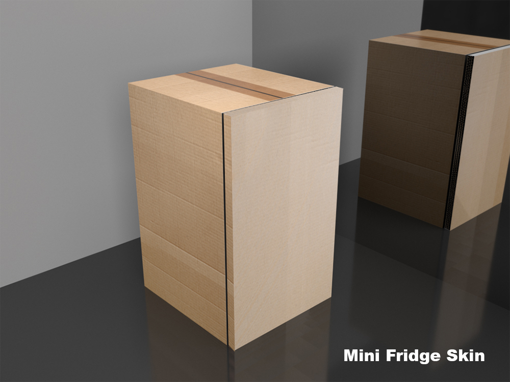 Cardboard box Mini fridge wrap