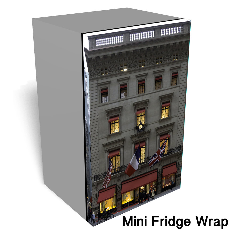 Cartier Building Mini Fridge Wrap