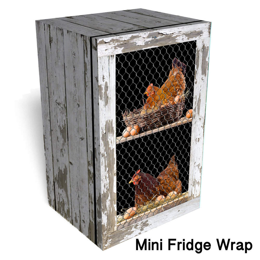 Chicken Coop Mini Fridge Wrap