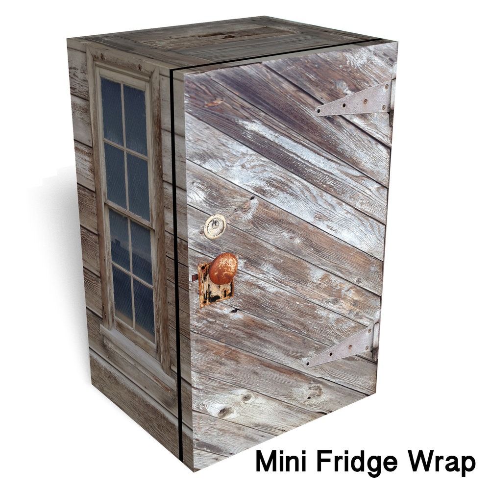 Ghost Town Shed Mini Fridge Wrap