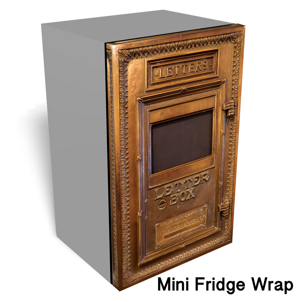 Golden Letter Box Mini Fridge Wrap