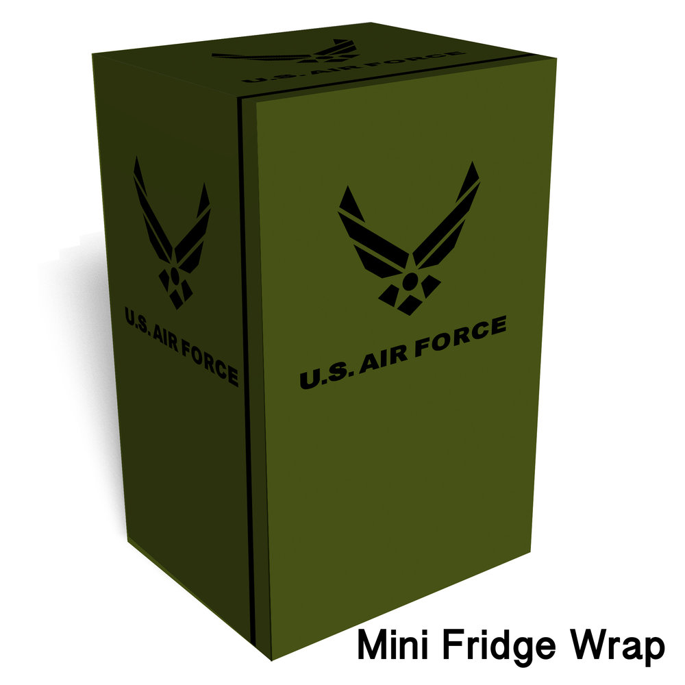 U.S. Air force Green Mini Fridge wrap