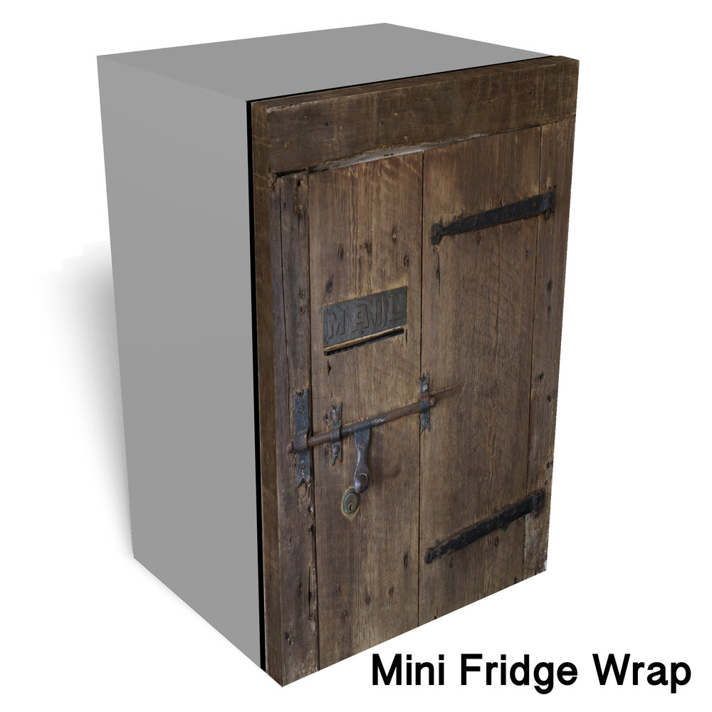 Mailbox wooden Mini fridge wrap