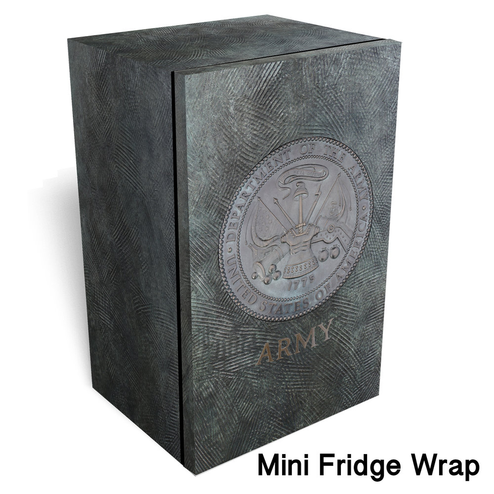Army logo Metal mini fridge