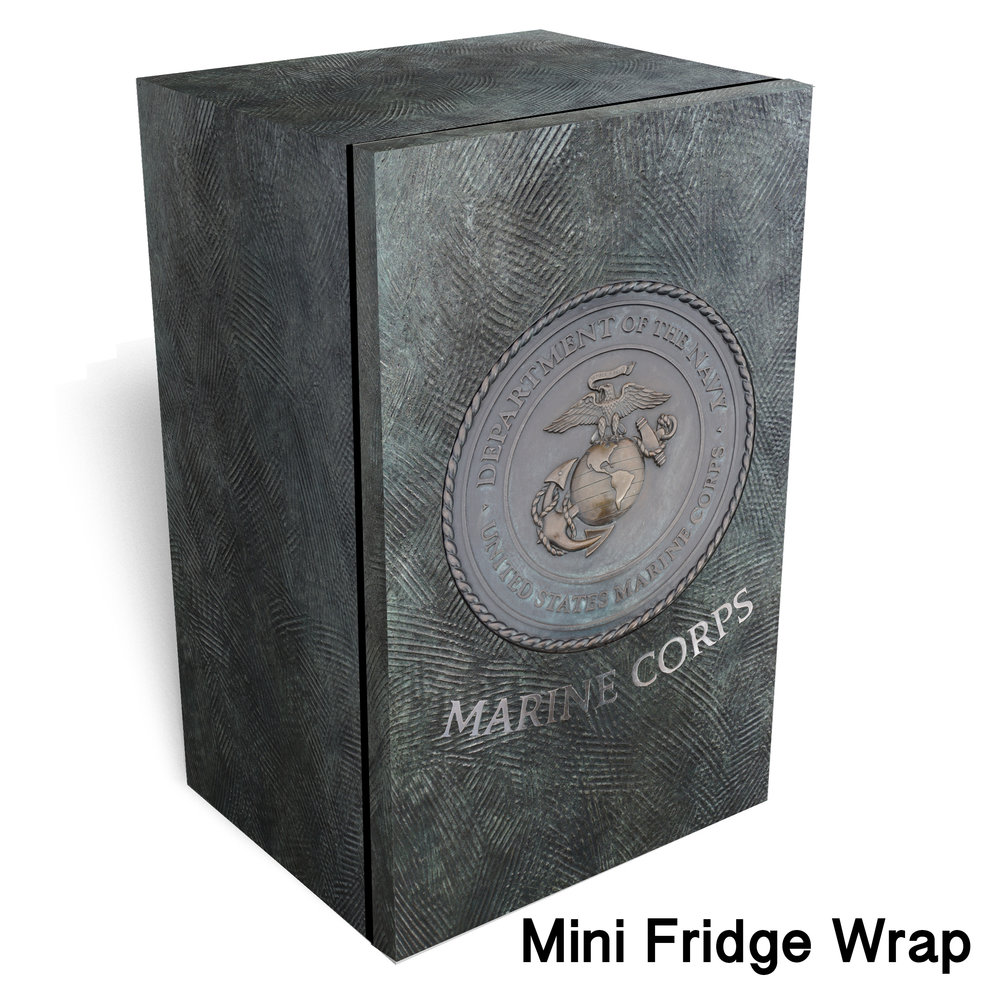 Marine corps logo metal Mini fridge wrap