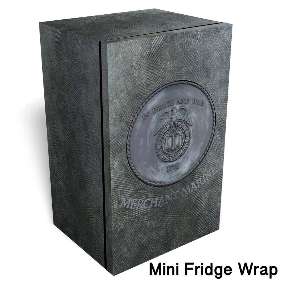 Merchant Marine logo metal Mini fridge wrap