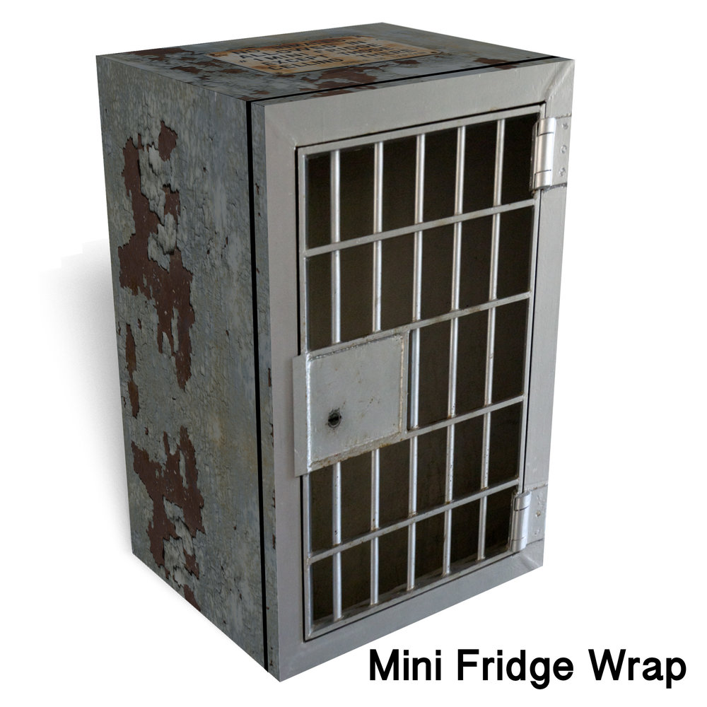 No Inmates Mini Fridge Wrap