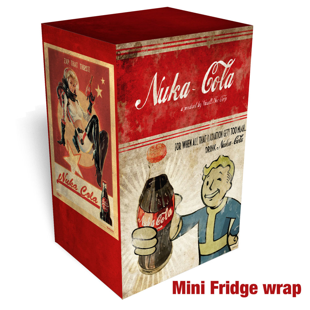 NUKA COLA Mini fridge wrap Full.