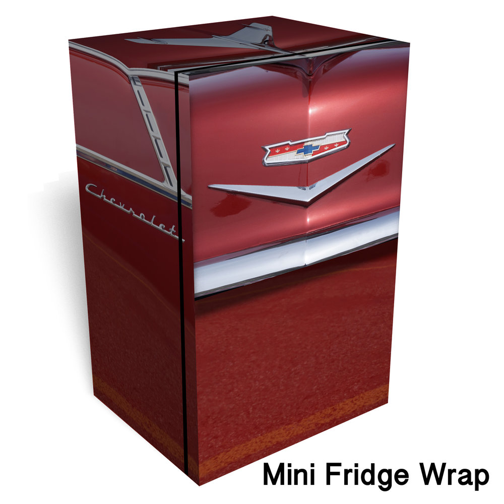 Red 1955 Chevy Mini Fridge Wrap