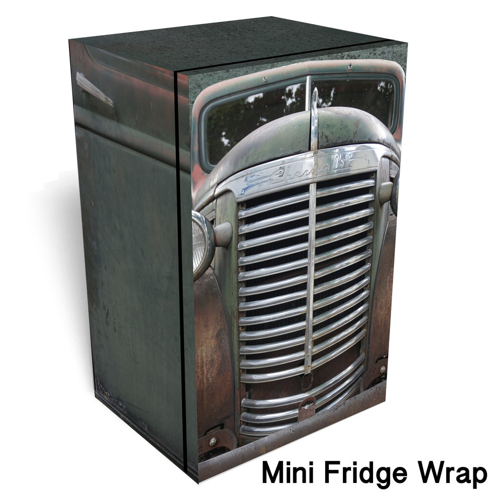 Rustic Green Chevrolet Mini Fridge Wrap