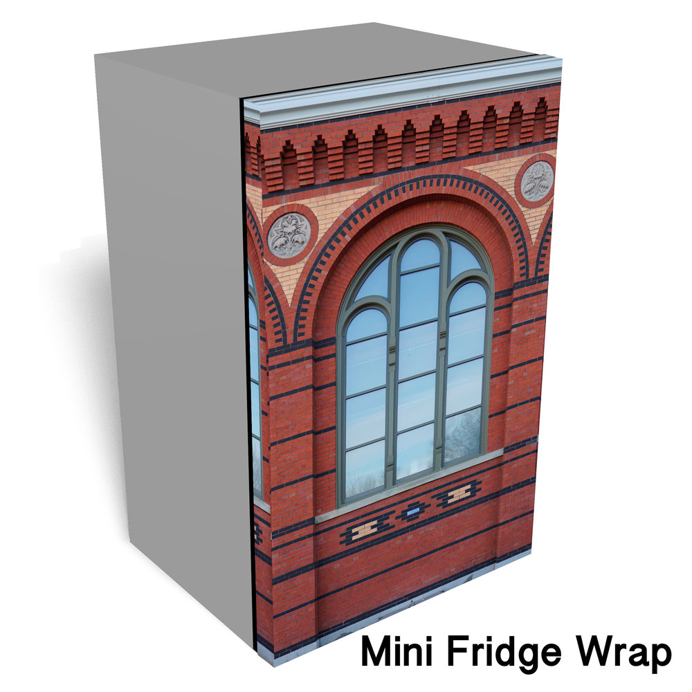 Smithsonian Castle Mini Fridge Wrap