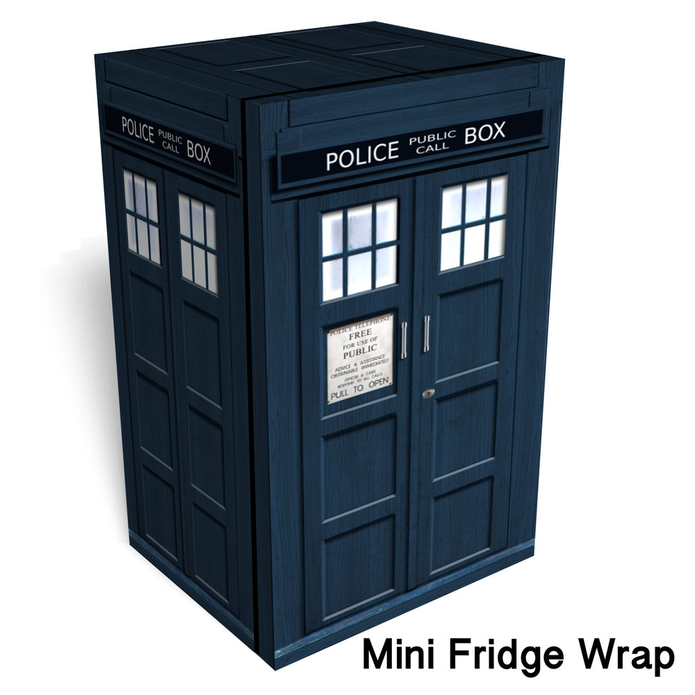 Tardis Mini Fridge Skin2