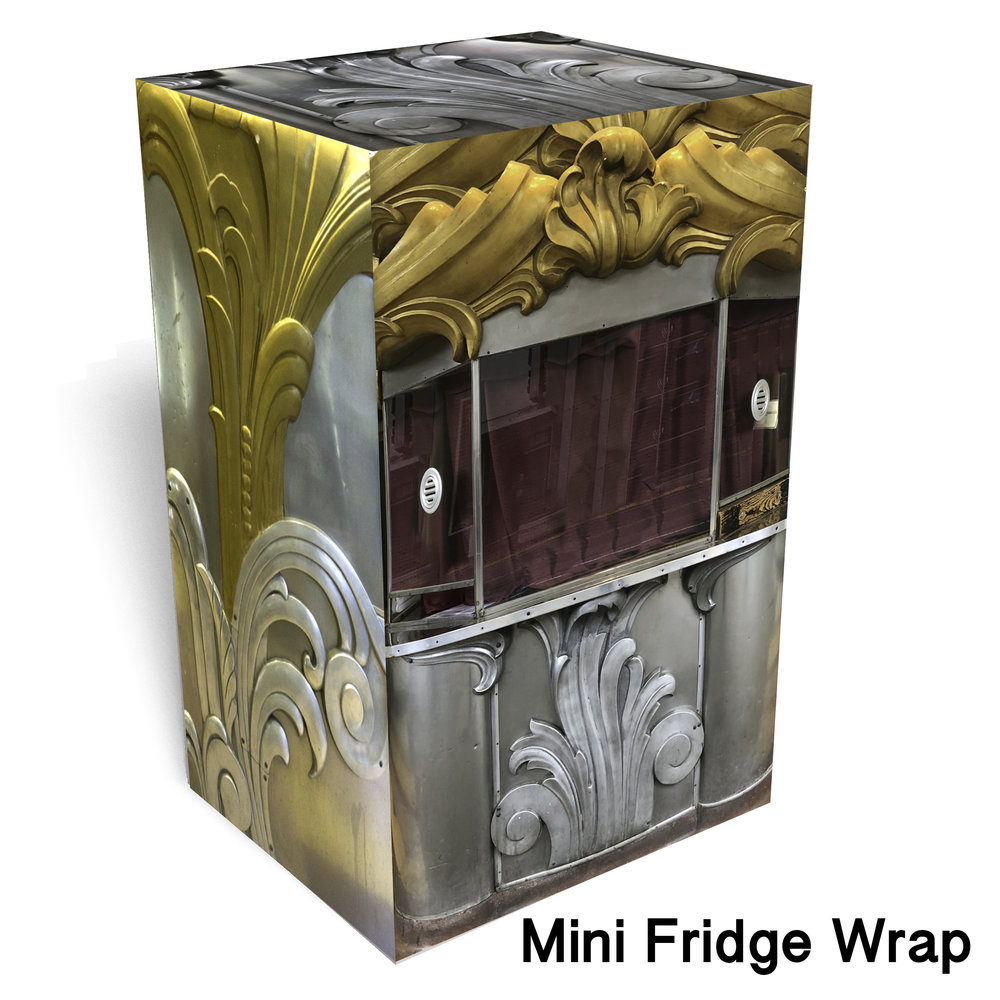Theater Ticket Booth Mini Fridge Skin