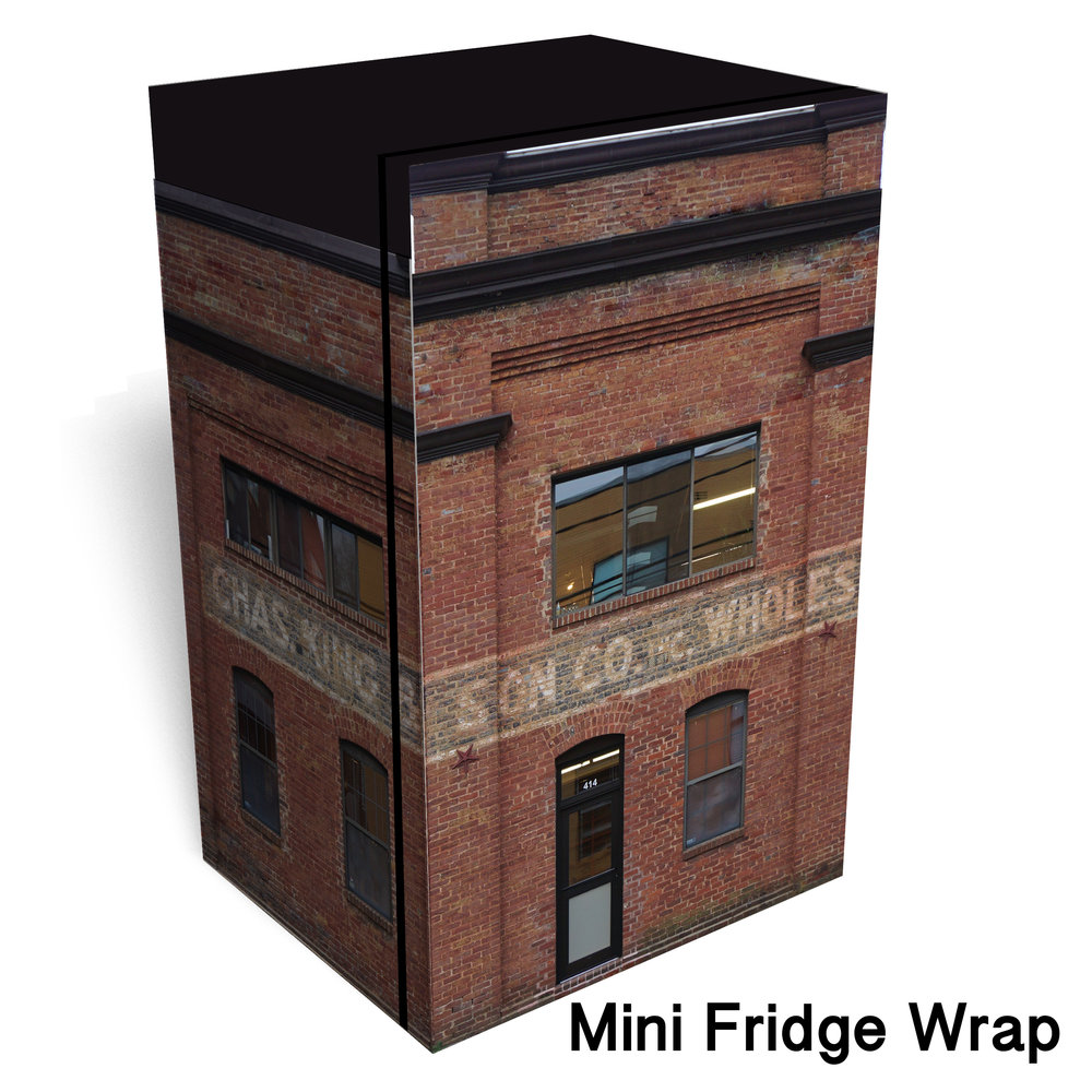 Whole Sale Building Mini Fridge Wrap