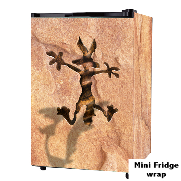 Wile E. Coyote wall Mini Fridge wrap