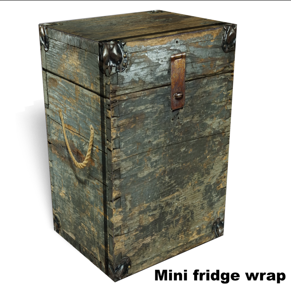 wooden box mini fridge wrap 2