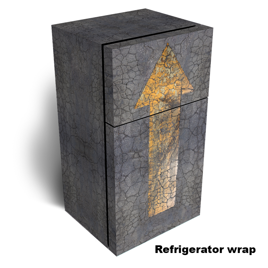 Yellow Arrow Refrigerator Skin