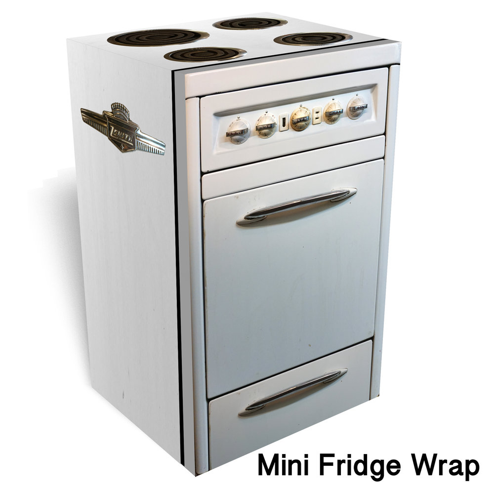 Zenith Vintage Oven Mini Fridge Wrap