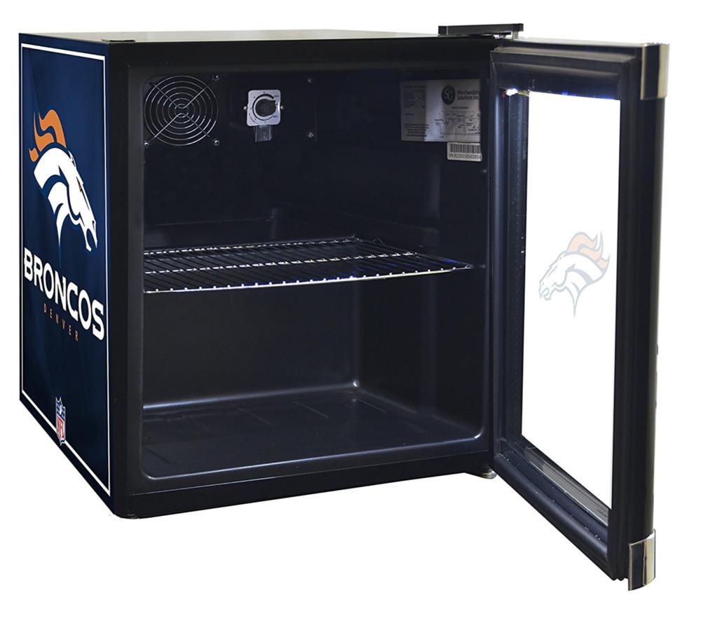 Glaros open door mini fridge