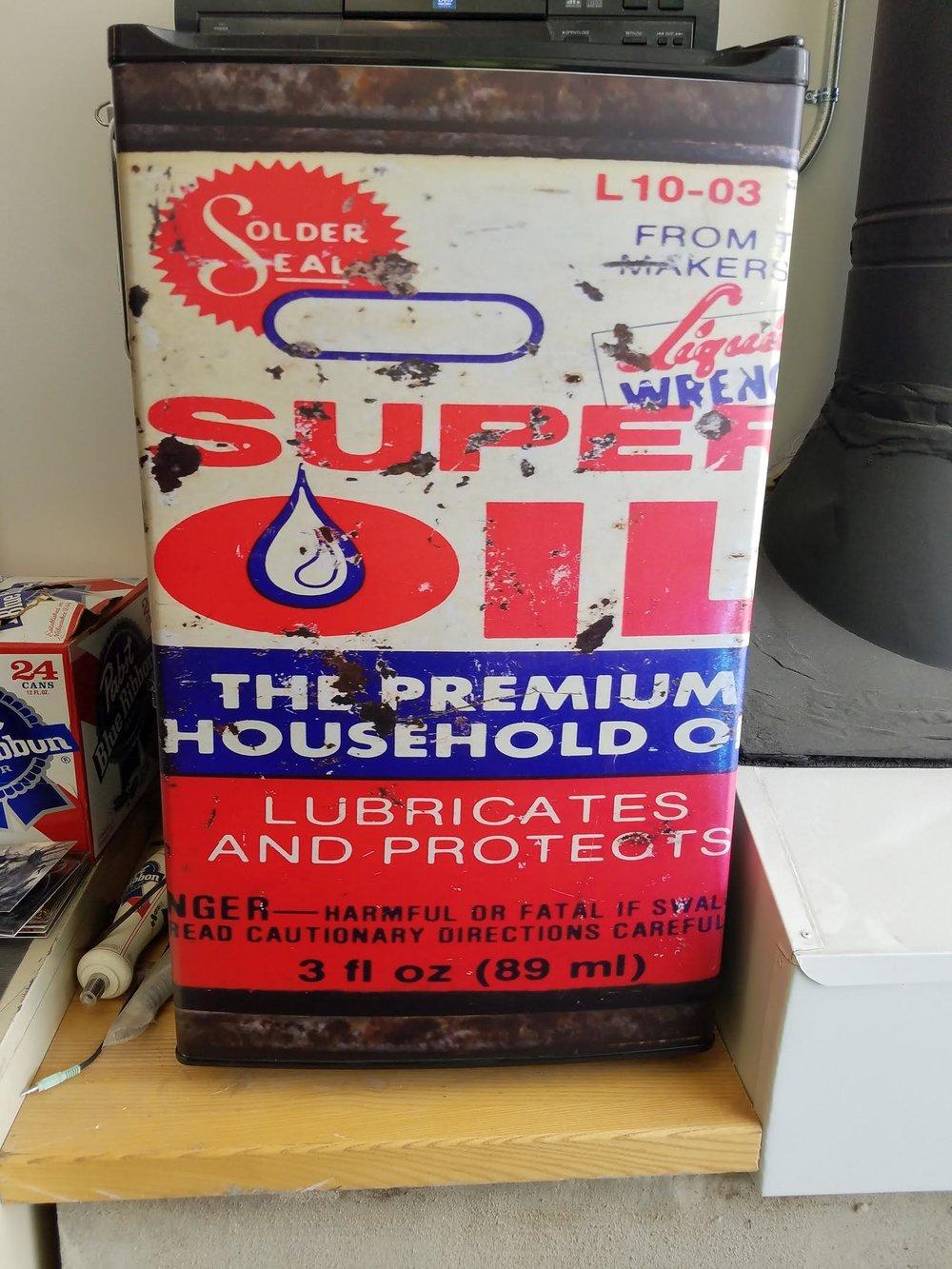 Super Oil Can Mini Fridge Skin